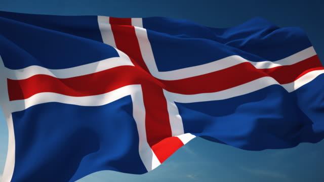 4K Iceland Flag - Loopable