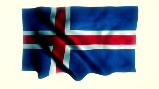 iceland flag - all european flags stock videos and b-roll footage