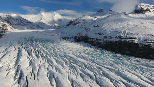 iceland from the sky : vatnajokull / skaftafell - dyrholaey stock videos & royalty-free footage