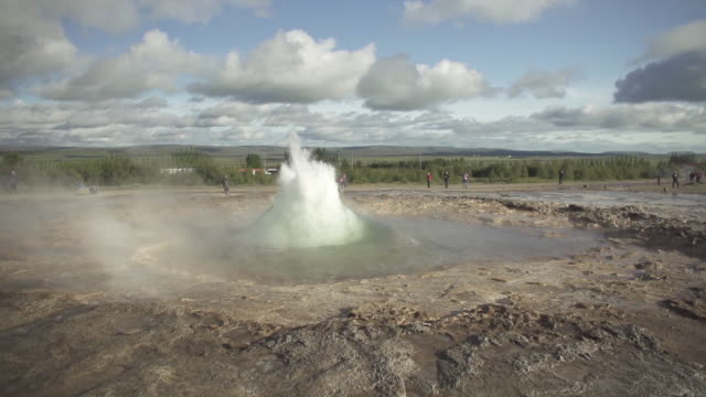 iceland geyser hot spring geysir - 40 seconds or greater stock videos & royalty-free footage