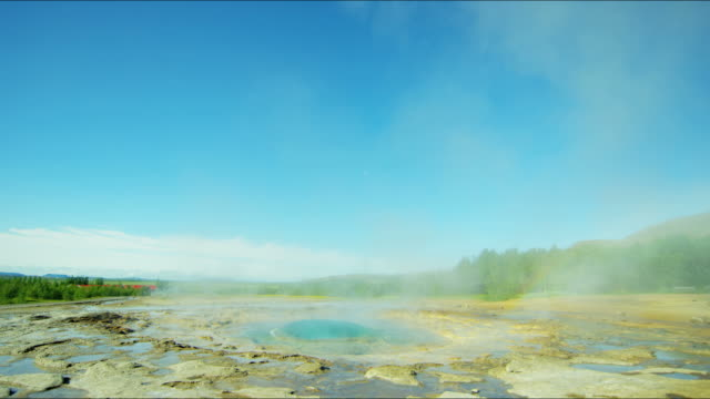iceland geyser strokkur golden circle volcanic spring tourism - geyser stock videos and b-roll footage
