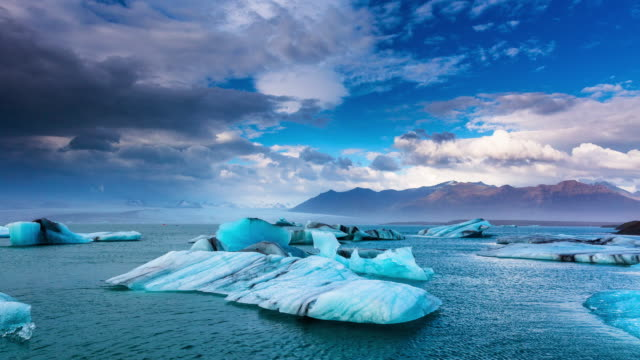 Iceland Glacier Lagoon Timelapse