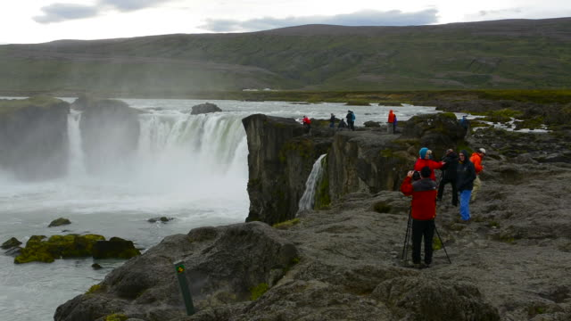 Iceland Godafoss waterfalls water falls in North Central Iceland on Ring Road