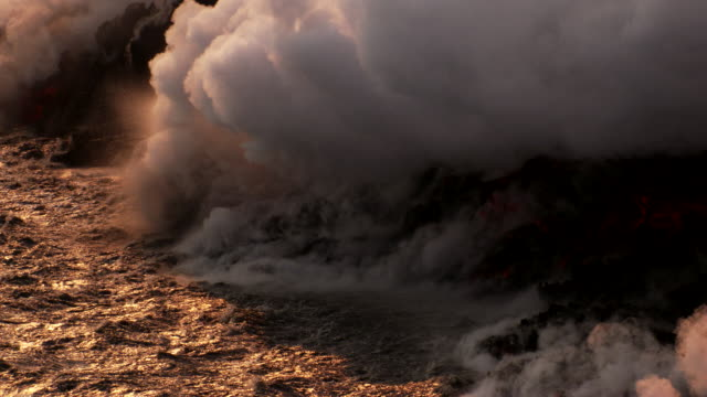 Iceland : Lava touch water