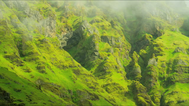 iceland mountain range mist eco tourism travel europe - eco tourism stock videos & royalty-free footage