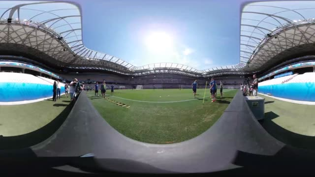 Iceland players train ahead of their Euro 2016 last 16 encounter against England