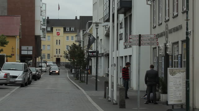 iceland. reykjavik - the streets of a small town - reykjavik stock videos and b-roll footage