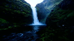 Iceland River Waterfall