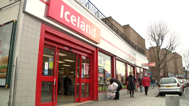 iceland store stockshots on march 10 2012 in england - iceland stock videos & royalty-free footage