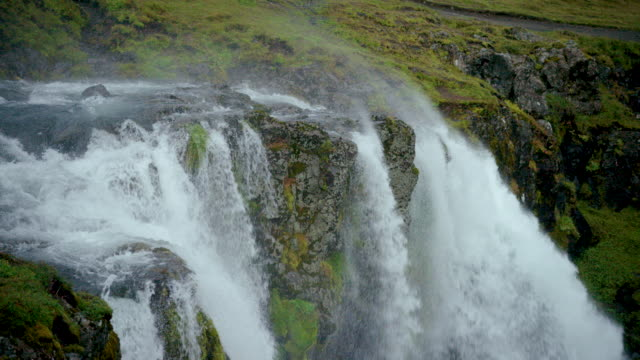 iceland waterfall - idyllic stock videos & royalty-free footage