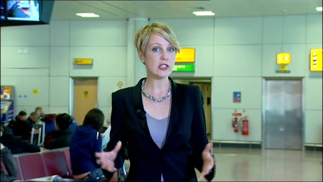 flight delays in Scotland Reporter to camera ENGLAND London EXT Michael O'Leary interview SOT Not a hint of a volcanic ash cloud / we have thousands...