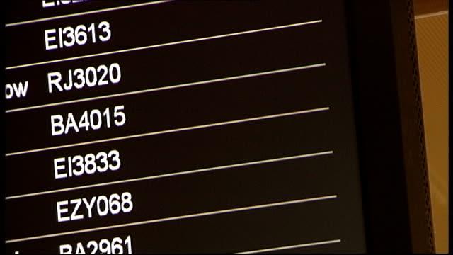 flight delays in scotland scotland glasgow glasgow international airport int air passengers lying on floor next their luggage waiting for delayed... - glasgow international airport stock videos & royalty-free footage