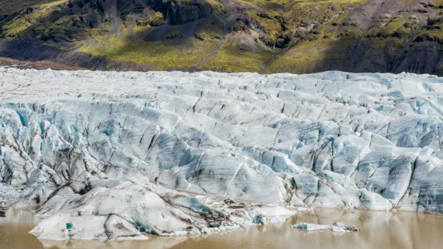 vidéos et rushes de glacier de l'islande, dérivant de la calotte glaciaire vatnajokull - mousse végétale