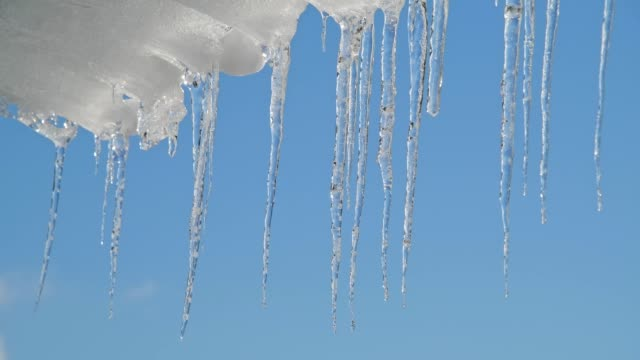 icicles, bavaria, germany - icicle stock videos and b-roll footage