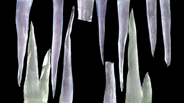 icicles grow and mesh together, with luma matte - dagger stock videos & royalty-free footage