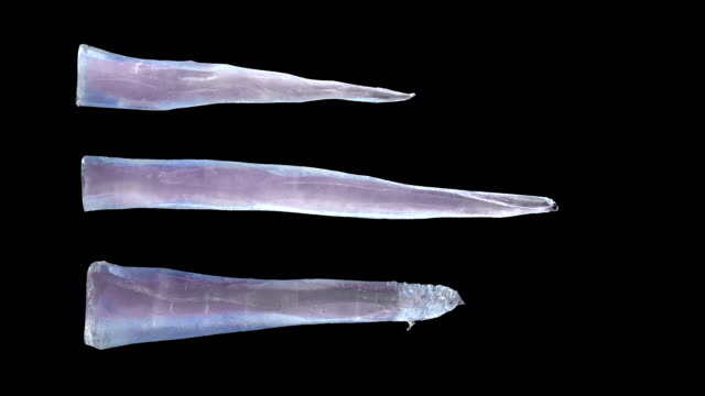 icicles grow like knives, with luma matte - dagger stock videos & royalty-free footage