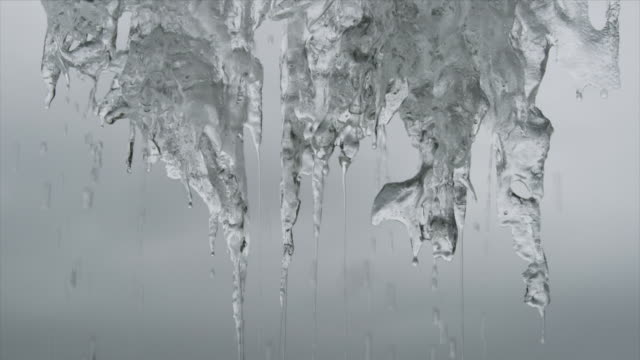 icicles melting in antarctic - icicle stock videos and b-roll footage