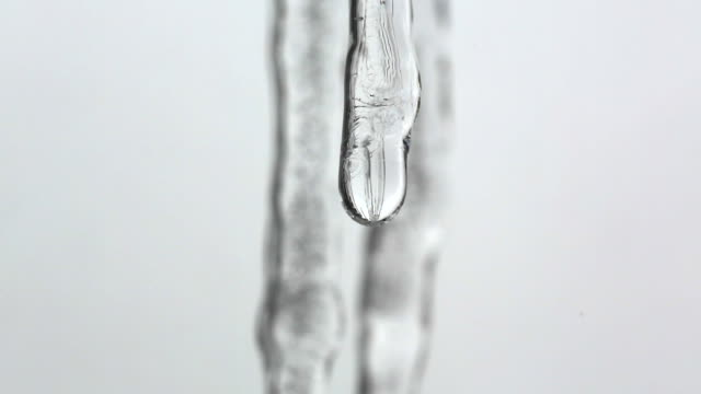 Icicles melting