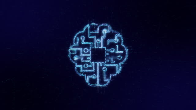 ai icon digital code technology background - computer software stock videos & royalty-free footage