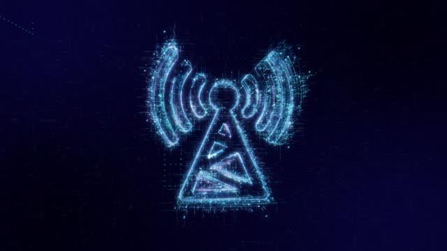 vídeos de stock, filmes e b-roll de fundo de tecnologia de código digital de ícone de comunicação - tower