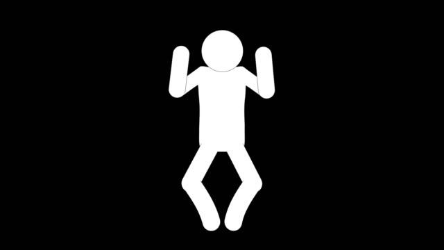 icon man beguile figure animation. character 2d cartoon animations. pictogram people unique silhouette vector icon set. animated stickman poses on transparent background. moving activity variation - variation icon stock videos & royalty-free footage