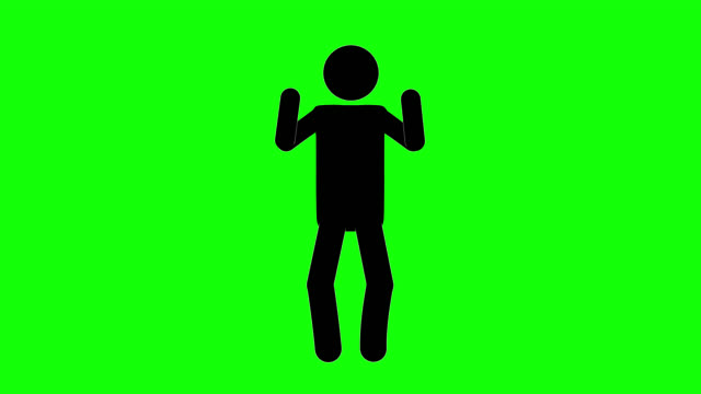 icon man bluff figure animation. character 2d cartoon animations. pictogram people unique silhouette vector icon set. animated stickman poses on transparent background. moving activity variation - variation icon stock videos & royalty-free footage