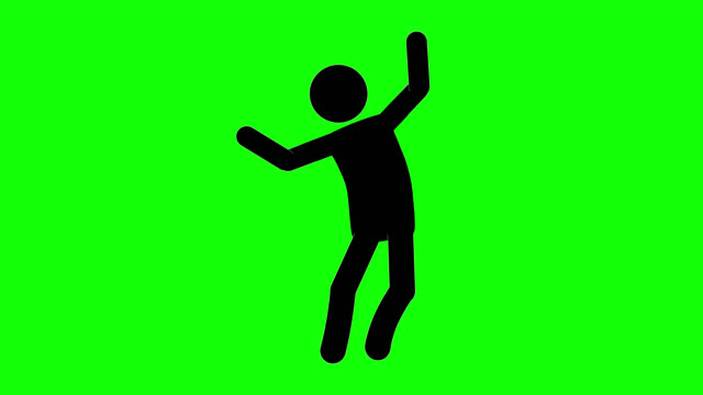 icon man brag figure animation. character 2d cartoon animations. pictogram people unique silhouette vector icon set. animated stickman poses on transparent background. moving activity variation - variation icon stock videos & royalty-free footage