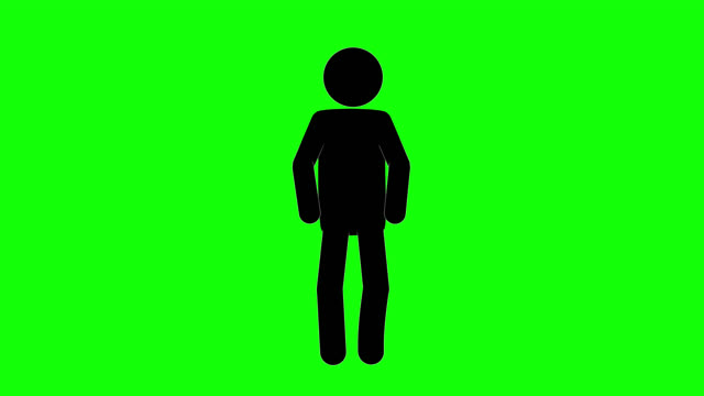 icon man breath figure animation. character 2d cartoon animations. pictogram people unique silhouette vector icon set. animated stickman poses on transparent background. moving activity variation - variation icon stock videos & royalty-free footage
