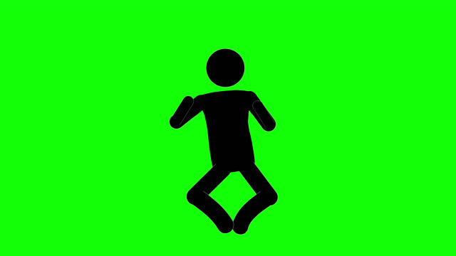 icon man chicken dance figure animation. character 2d cartoon animations. pictogram people unique silhouette vector icon set. animated stickman poses on transparent background. moving activity variation - variation icon stock videos & royalty-free footage