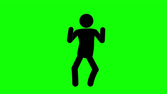 icon man dancing figure animation. character 2d cartoon animations. pictogram people unique silhouette vector icon set. animated stickman poses on transparent background. moving activity variation - alpha channel stock videos & royalty-free footage
