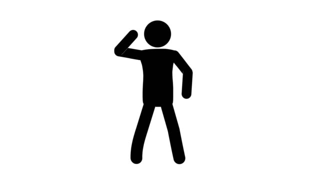 icon man dancing figure animation. character 2d cartoon animations. pictogram people unique silhouette vector icon set. animated stickman poses on transparent background. moving activity variation - variation icon stock videos & royalty-free footage