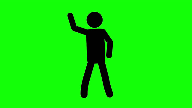 icon man dancing loop figure animation. character 2d cartoon animations. pictogram people unique silhouette vector icon set. animated stickman poses on transparent background. moving activity variation - variation icon stock videos & royalty-free footage