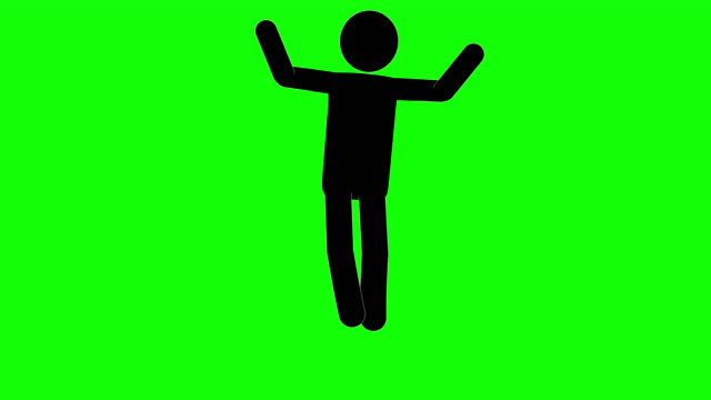 icon man excited loop figure animation. character 2d cartoon animations. pictogram people unique silhouette vector icon set. animated stickman poses on transparent background. moving activity variation - variation icon stock videos & royalty-free footage