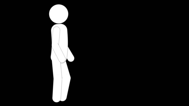 icon man figure breathing animation. character 2d cartoon animations. pictogram people unique silhouette vector icon set. animated poses on transparent background. moving activity variation - variation icon stock videos & royalty-free footage