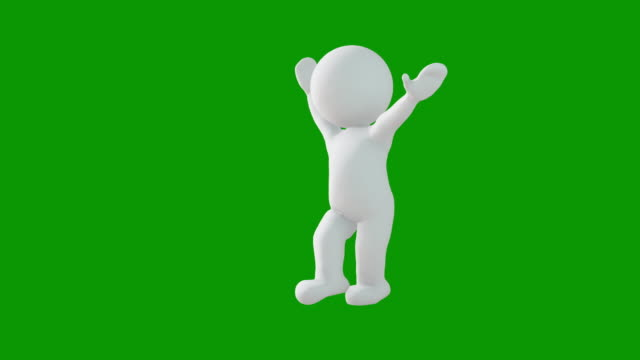 3d icon man figure dancing animation. character animations. pictogram people unique silhouette vector icon set. animated poses on chroma key background. moving activity variation. - figurine stock videos & royalty-free footage