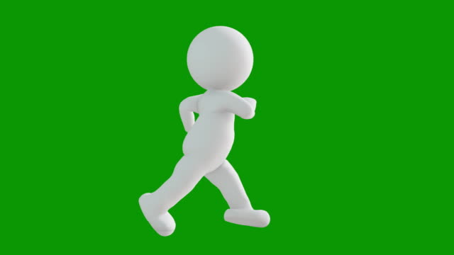 3d icon man figure running animation. character animations. pictogram people unique silhouette vector icon set. animated poses on chroma key background. moving activity variation. - variation icon stock videos & royalty-free footage