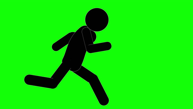 icon man figure running loop animation. character 2d cartoon animations. pictogram people unique silhouette vector icon set. animated poses on transparent background. moving activity variation - transparent stock videos & royalty-free footage