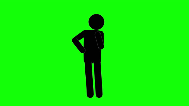 icon man figure thinking animation of front view. character 2d cartoon animations. pictogram people unique silhouette vector icon set. animated poses on transparent background. moving activity variation - contemplation stock videos & royalty-free footage