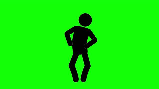 icon man figur denken animation der frontansicht. charakter 2d cartoon animationen. piktogramm menschen einzigartige silhouette vektor-symbol-set. animierte posen auf transparentem hintergrund. verschieben der aktivitätsvariation - achtsamkeit persönlichkeitseigenschaft stock-videos und b-roll-filmmaterial