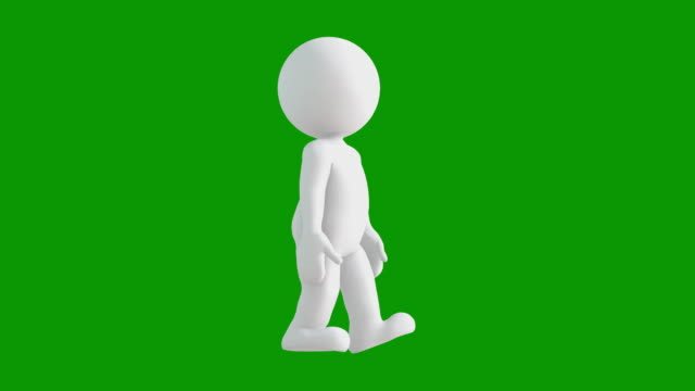 3d icon man figure walking animation. character animations. pictogram people unique silhouette vector icon set. animated poses on chroma key background. moving activity variation. - variation icon stock videos & royalty-free footage
