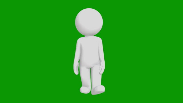 3d icon man figure walking animation. character animations. pictogram people unique silhouette vector icon set. animated poses on chroma key background. moving activity variation. - alpha channel stock videos & royalty-free footage