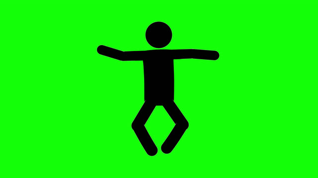icon man floating figure animation. character 2d cartoon animations. pictogram people unique silhouette vector icon set. animated stickman poses on transparent background. moving activity variation - variation icon stock videos & royalty-free footage