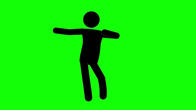 icon man hula dance figure animation. character 2d cartoon animations. pictogram people unique silhouette vector icon set. animated stickman poses on transparent background. moving activity variation - variation icon stock videos & royalty-free footage