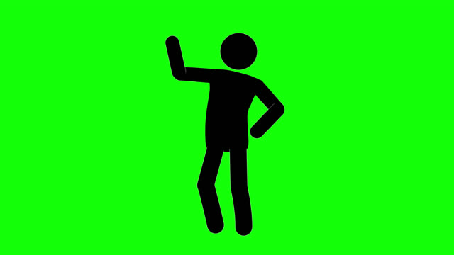 icon man idle accuse figure animation. character 2d cartoon animations. pictogram people unique silhouette vector icon set. animated stickman poses on transparent background. moving activity variation - variation icon stock videos & royalty-free footage