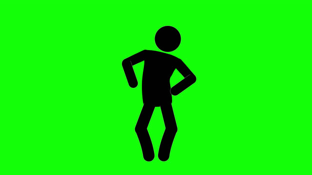 icon man laughing figure animation. character 2d cartoon animations. pictogram people unique silhouette vector icon set. animated stickman poses on transparent background. moving activity variation - gesturing stock videos & royalty-free footage