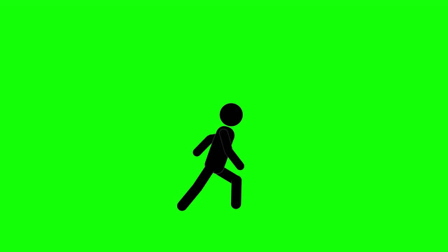 icon man run and stop animation. character 2d figure cartoon animations. pictogram people unique silhouette vector icon set. animated poses on transparent background. moving activity variation - variation icon stock videos & royalty-free footage