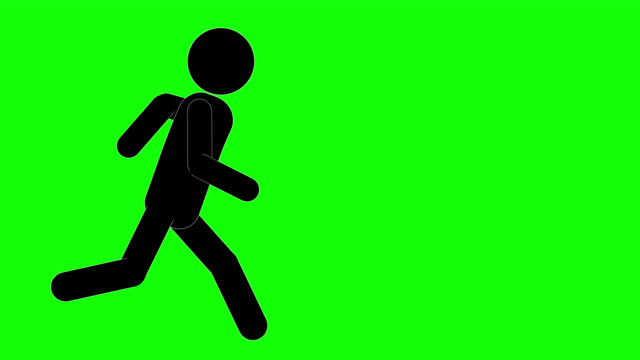 vidéos et rushes de icône man running et stop for yelling animation. personnage 2d figure cartoon animations. pictogram people unique silhouette vector icon set. poses animées sur fond transparent. variation de l'activité mobile - icône