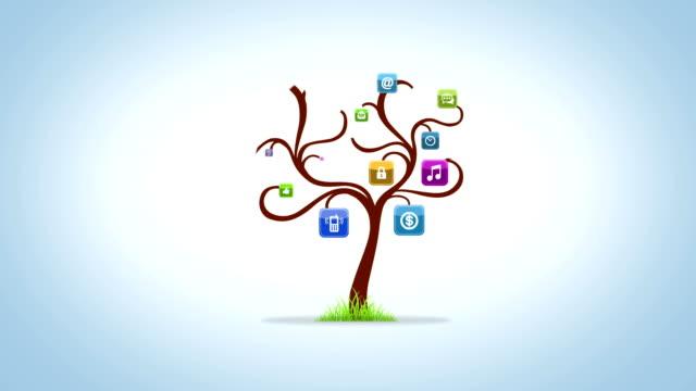 vídeos y material grabado en eventos de stock de icono de árbol - raíz