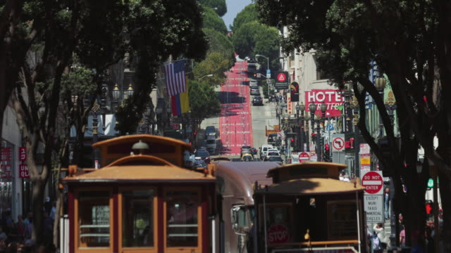 Iconic cable car system in San Francisco