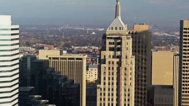 iconic office towers of oklahoma city - aerial - establishing shot stock videos & royalty-free footage